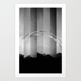 Landscape Fracture Art Print