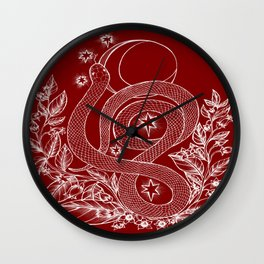 Killing Moon - Snake and Nightshade Wall Clock