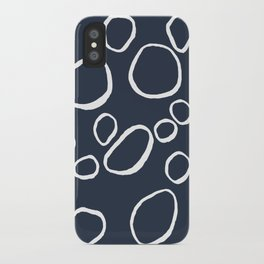 Daisy Circles Navy iPhone Case