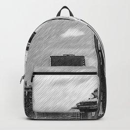 Seattle Skyline Sketched Backpack