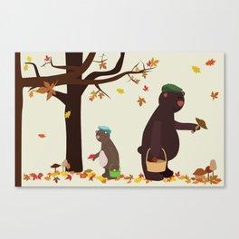 Autumn Bears Canvas Print