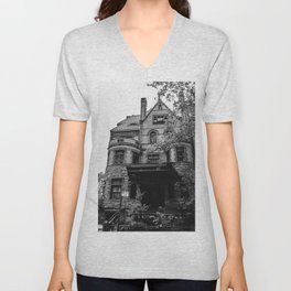 Brooklyn Heights Brownstone Unisex V-Neck