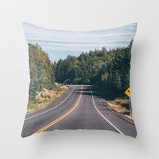 turn left Throw Pillow