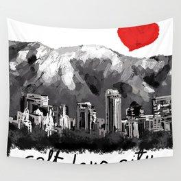 I love Salt Lake City Wall Tapestry