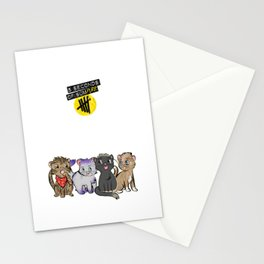 4 cats for 5 seconds - white Stationery Cards