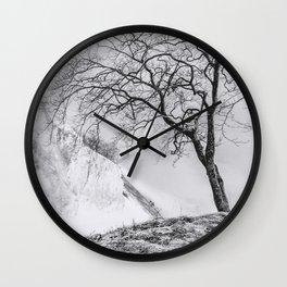 ON THE BRINK (graphite) / Møns Klint, Denmark Wall Clock