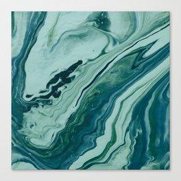 Blue Planet Marble Canvas Print