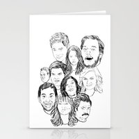 parks and rec Stationery Cards featuring Parks and Recreation 'Rec a Sketch' by Moremeknow