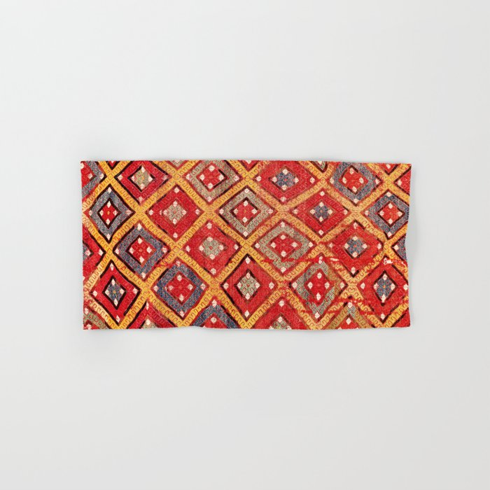 Zili  Antique Turkish Fethiye Flatweave Print Hand & Bath Towel