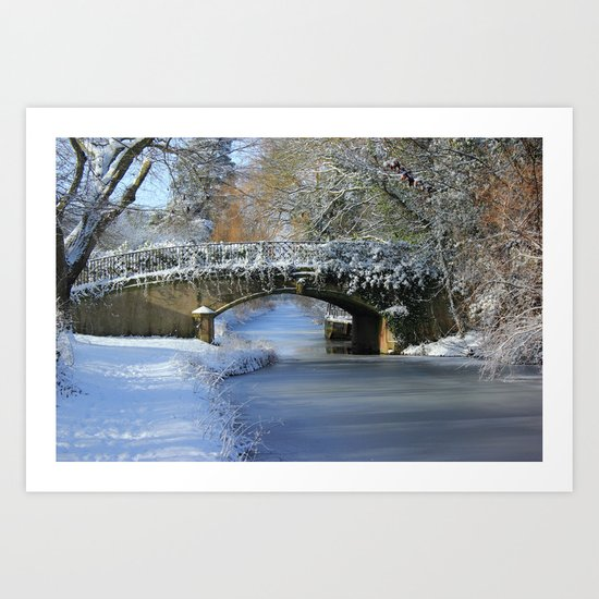 Winter at Lady's Bridge Art Print