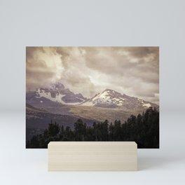Mountain with Clouds Mini Art Print