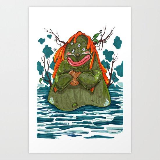 Cookie Swamp Monster Art Print