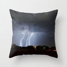 Lightning Triple Play Throw Pillow
