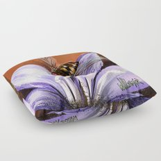 Fly on flower 10 Floor Pillow