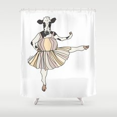Cow Ballerina Tutu Shower Curtain