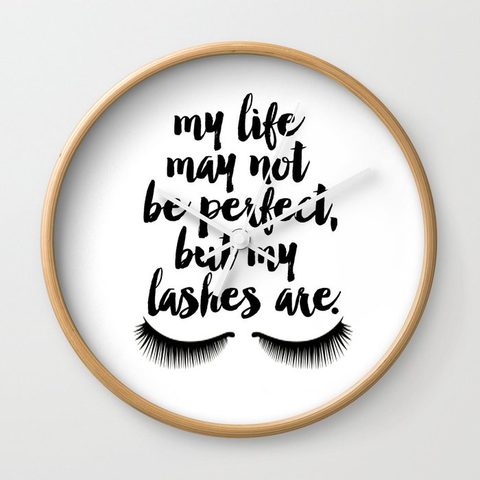 MAKEUP PRINT Eyelash Decor Makeup Vanity Art My Life May Not Be Perfect But  My Lashes