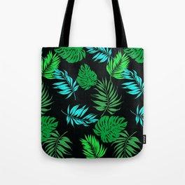 Vintage Retro Tropical Leaf Pattern Tote Bag