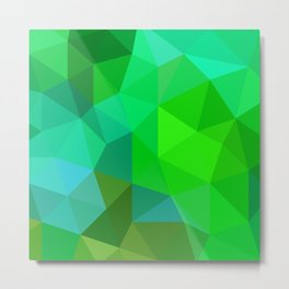 Emerald Low Poly Metal Print