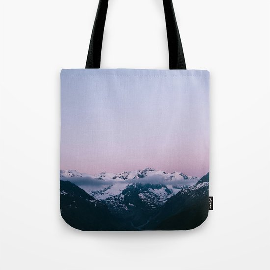 Sunset Mountains (pastel) Tote Bag