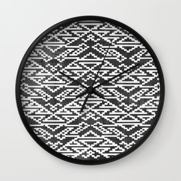 Aztec Block Pattern Wall Clock