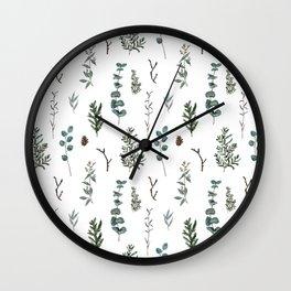 Pine and Eucalyptus Wall Clock