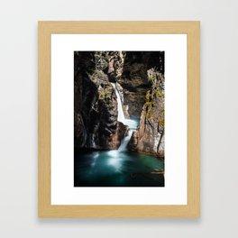 Johnston Canyon Lower Falls Framed Art Print