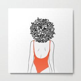 GIRL Metal Print