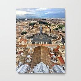 High Above The Vatican - Basilica di San Pietro Metal Print