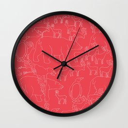 Global warming and animal migration 04 Wall Clock