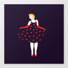 Apple girl Canvas Print