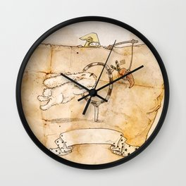 HEAD HUNTING- IV Wall Clock