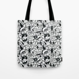 Doodles get crazy when posing for a pattern design Tote Bag