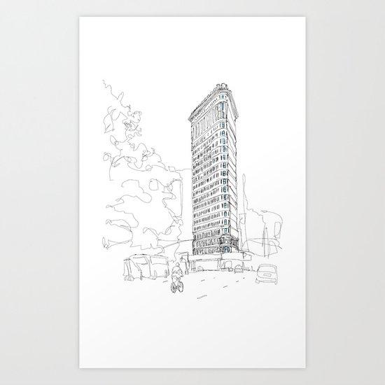 Flat Iron Building Art Print