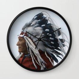 Lazy Boy - Blackfoot Indian Chief Wall Clock