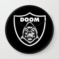 doom Wall Clocks featuring Doom by Buby87