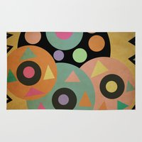 circles Area & Throw Rugs featuring circles by simay