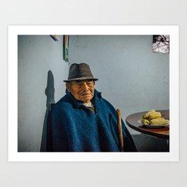 Abuelo y su choclo Art Print
