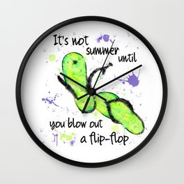 Blow Out a Flip-flop Wall Clock