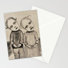 strange kids Stationery Cards
