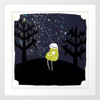 astronomy Art Prints featuring Astronomy by Emma LaPine