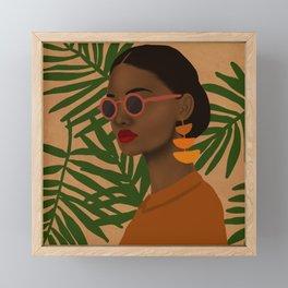 girl in shades Framed Mini Art Print