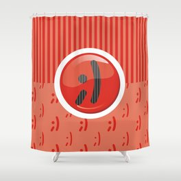 Red Writer's Mood Shower Curtain