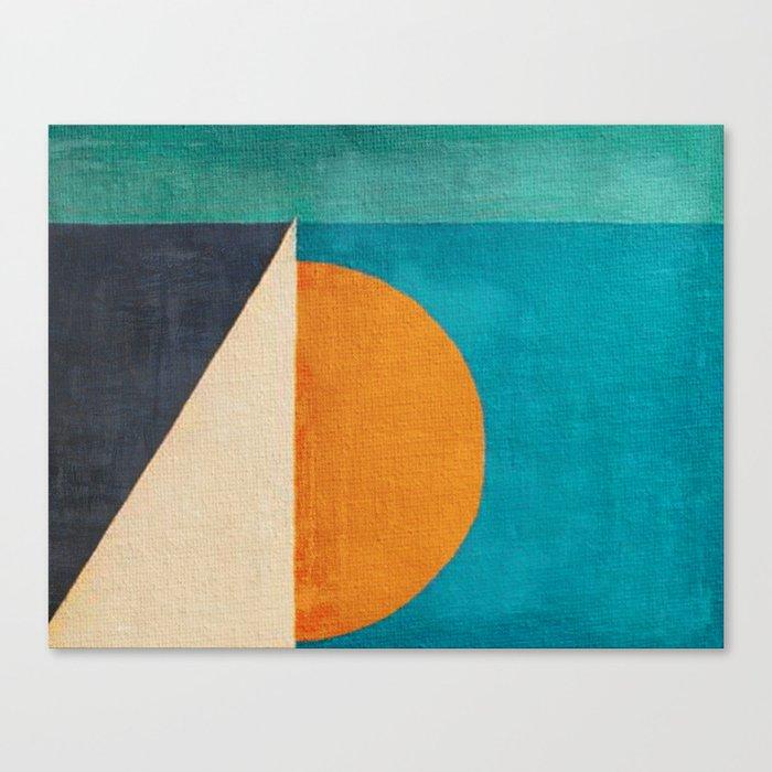 Regata al Tramonto Canvas Print