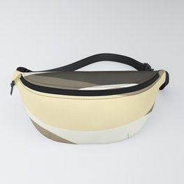Beige Brown and Taupe Abstract Fanny Pack