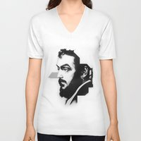 stanley kubrick V-neck T-shirts featuring STANLEY KUBRICK by A. Dee