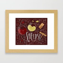 Cheers red Framed Art Print