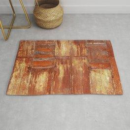 Rusty metal wall surface Rug