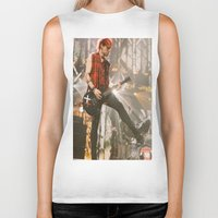 michael clifford Biker Tanks featuring Clifford Michael // Live by Fan_Girl_Designs