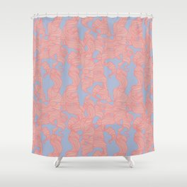 Trailing Curls // Pink & Blue Pastels Shower Curtain