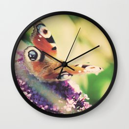 """""""I only ask to be free. The butterflies are free."""" ~ Charles Dickens  Wall Clock"""